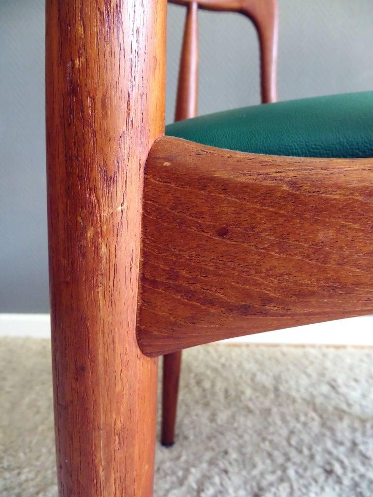 Uldum Denmark Model 16 by Johannes Andersen Dining Teak Chairs ,Set of 2, 1960s For Sale 3