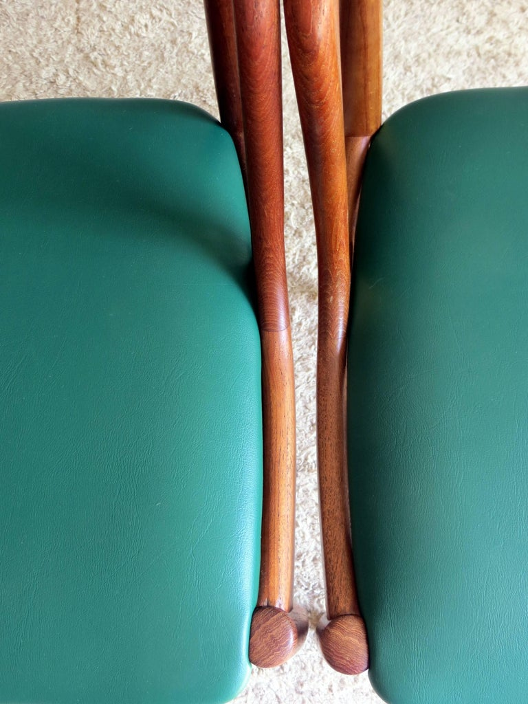 Uldum Denmark Model 16 by Johannes Andersen Dining Teak Chairs ,Set of 2, 1960s For Sale 5