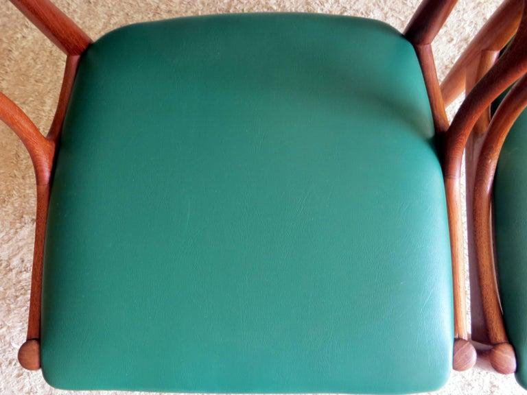 Uldum Denmark Model 16 by Johannes Andersen Dining Teak Chairs ,Set of 2, 1960s For Sale 6