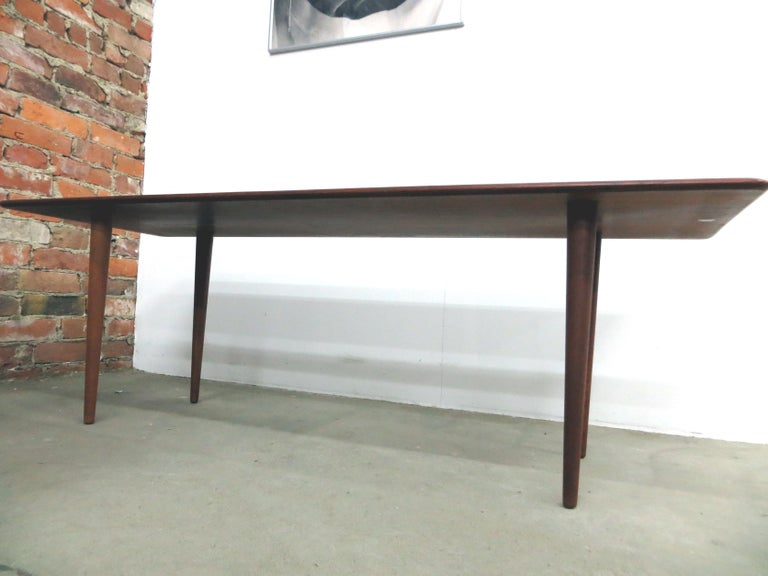 This Danish Mid-Century Modern vintage furniture was designed in 1950s by the well-known designer for Danish furniture's Peter Hvidt & Orla Mølgaard-Nielsen for the worldwide renowned, Scandinavian Danish Design cabinetmaker France & Son in