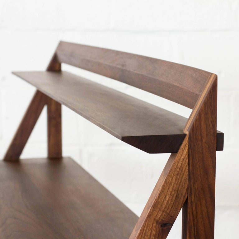 Oiled Cantilever Series Desk By Phaedo Natural Black Walnut For