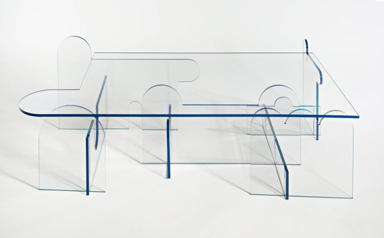 Inspired by line drawings, the Lexan series invokes the movement and playfulness of the artist's sculptural work.