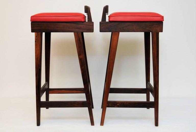 Danish Rosewood Barstools by Erik Buch for Dyrlund, Set of Three 3