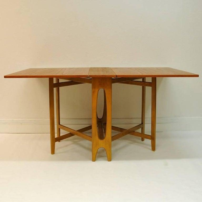 Teak Folding Table Ellipse Nr 2 Bendt Winge Norway At