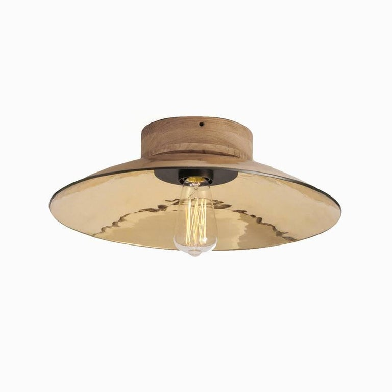 Hand-Crafted Zenith Small Glass Wall or Ceiling Light For Sale