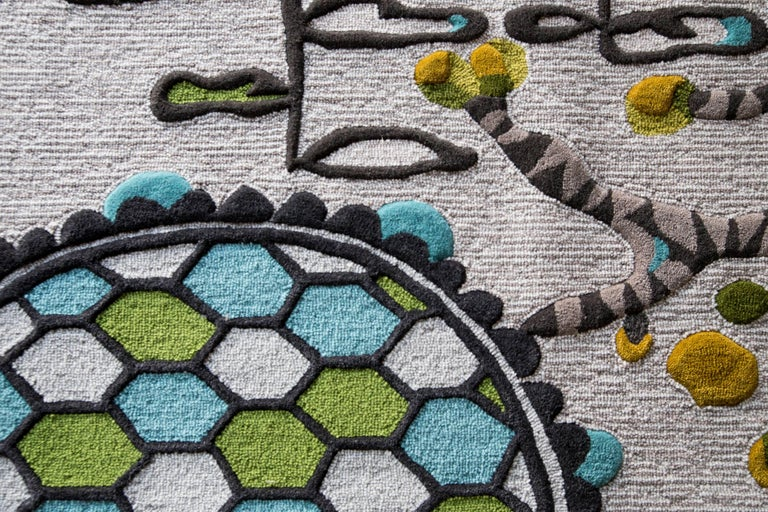 Angela Adams Underground Area Rug and Tapestry One-of-a-kind Handcrafted, Modern In New Condition For Sale In Portland, ME