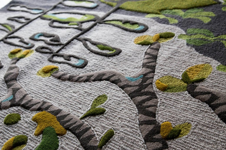 Contemporary Angela Adams Underground Area Rug and Tapestry One-of-a-kind Handcrafted, Modern For Sale
