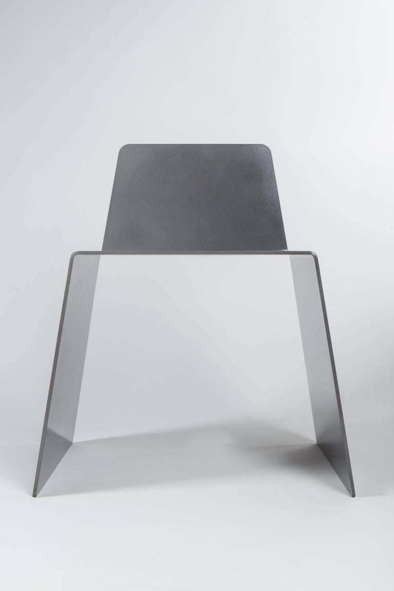 American Steel Side Chair in Hot-Dipped Galvanized Steel by Jonathan Nesci For Sale