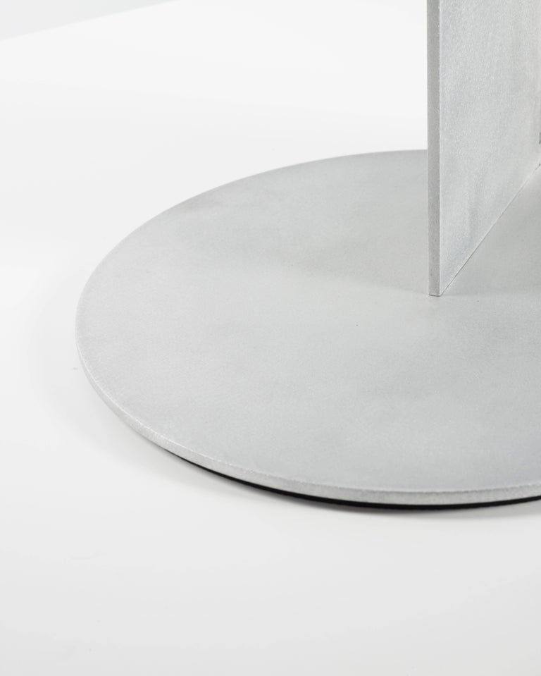 Other Tier Table in Waxed and Polished Aluminium Plate by Jonathan Nesci For Sale