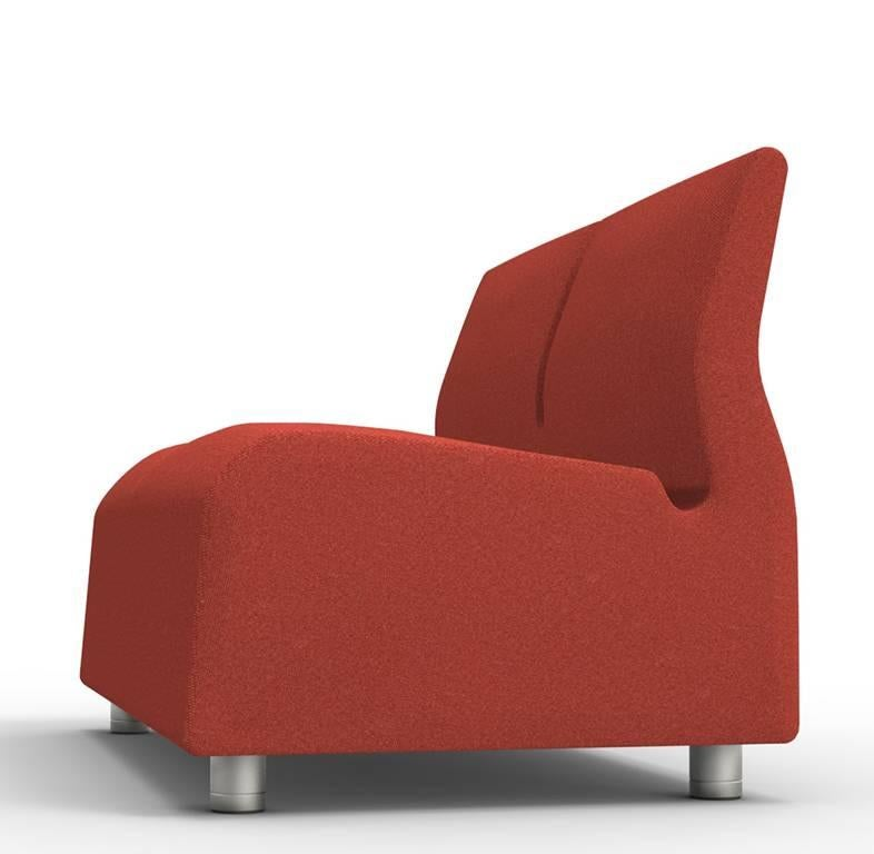 Modern Upholstered Sofa Two Seat Red Conversation Satyendra Pakhale, 21st  Century For Sale