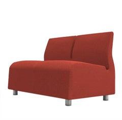 Upholstered Sofa Two-Seat Red Conversation Satyendra Pakhale, 21st Century