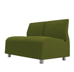 Two-Seat Conversation Upholstered Sofa Green Satyendra Pakhale 21st Century
