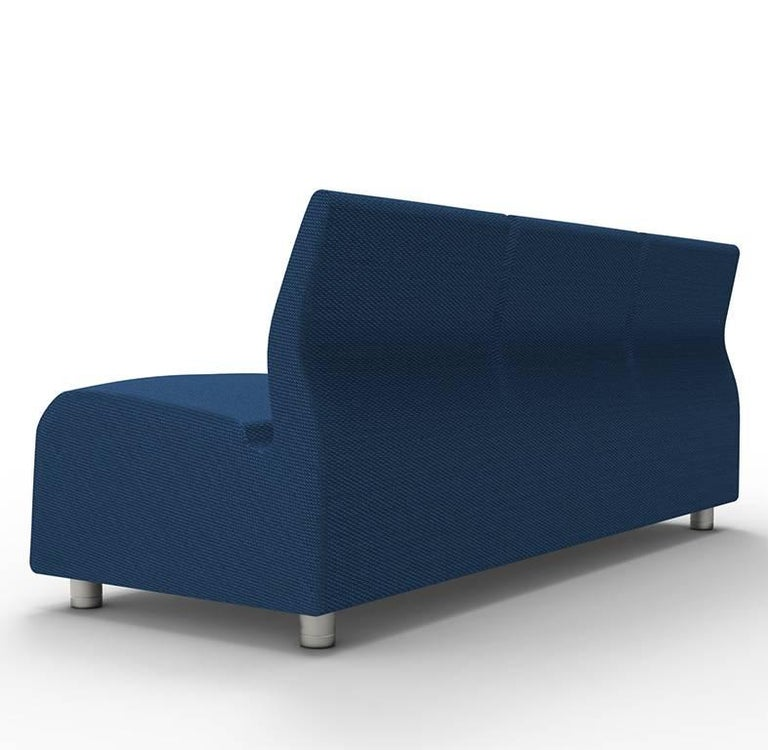 Three-Seater Conversation Upholstered Blue Sofa Satyendra Pakhale, 21st Century 2