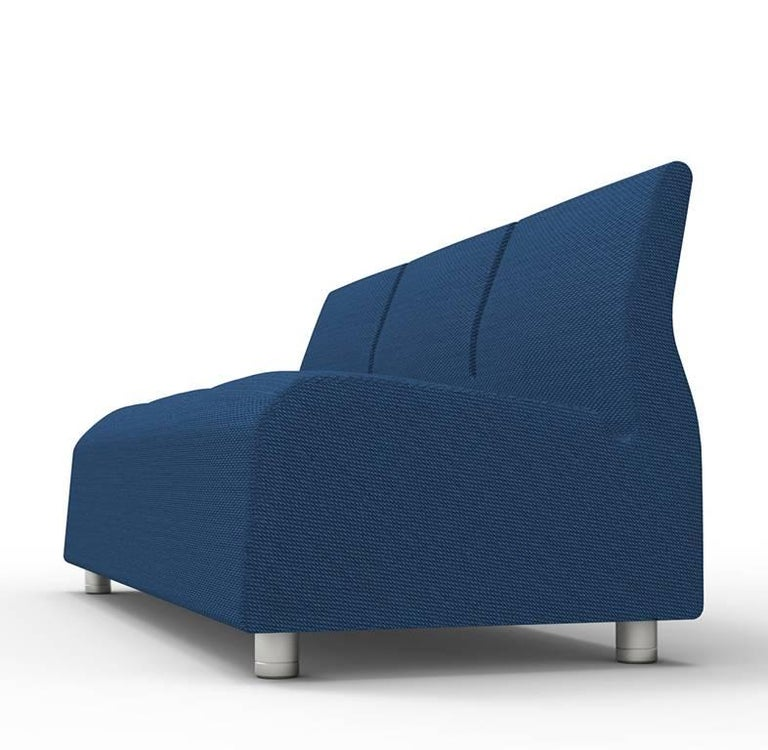 Three-Seater Conversation Upholstered Blue Sofa Satyendra Pakhale, 21st Century 3