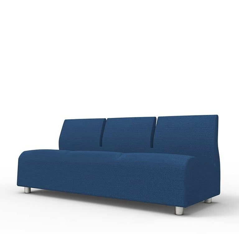 Three-Seater Conversation Upholstered Blue Sofa Satyendra Pakhale, 21st Century 4