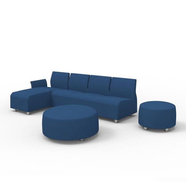 Three-Seater Conversation Upholstered Blue Sofa Satyendra Pakhale, 21st Century 5