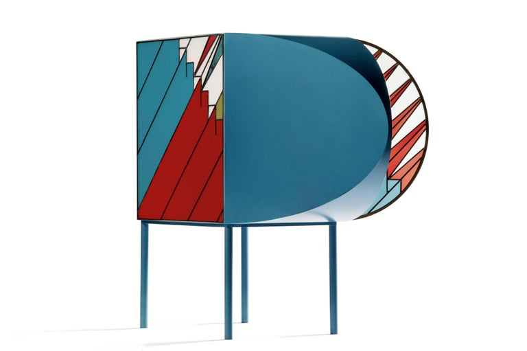 credenza sideboard in stained glass design patricia urquiola and federico pepe for sale at 1stdibs. Black Bedroom Furniture Sets. Home Design Ideas