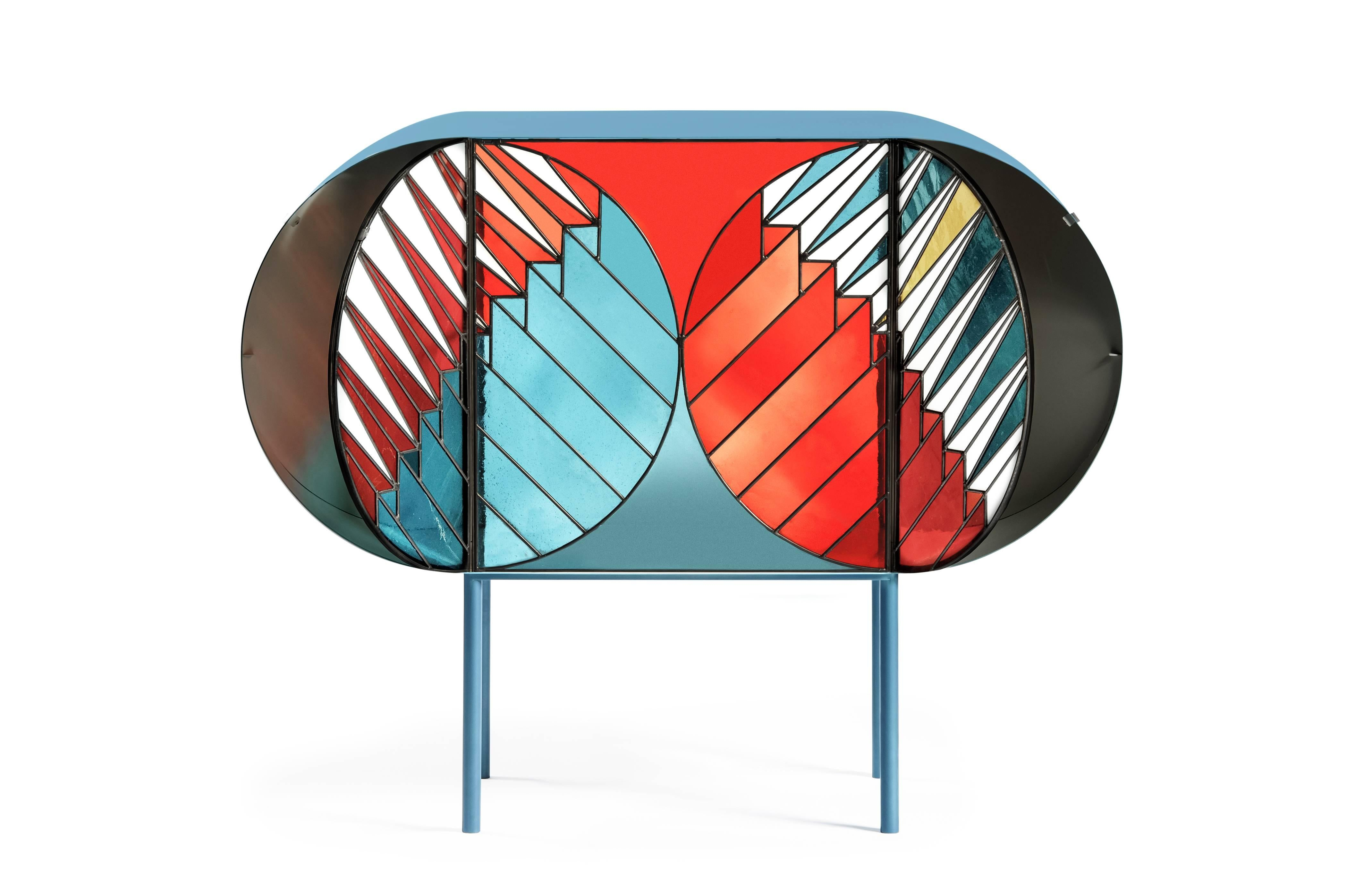 Credenza Sideboard In Stained Glass Design Patricia Urquiola And Federico