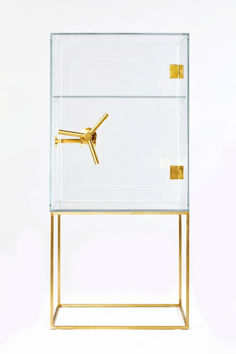 Italian Precious Crystal Safe Storage Cabinet by Ctrlzak for Editions Milano For Sale