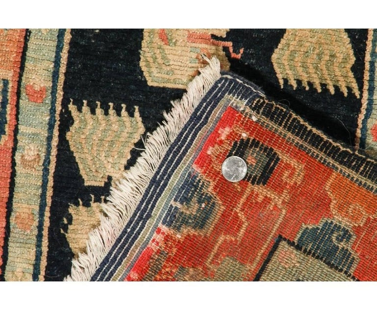 Antique Tibetan Double Snow Lion Rug At 1stdibs