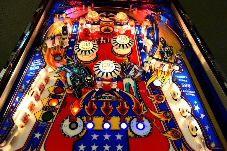 Bally Evel Knievel Vintage Pinball Machine 1977 High End