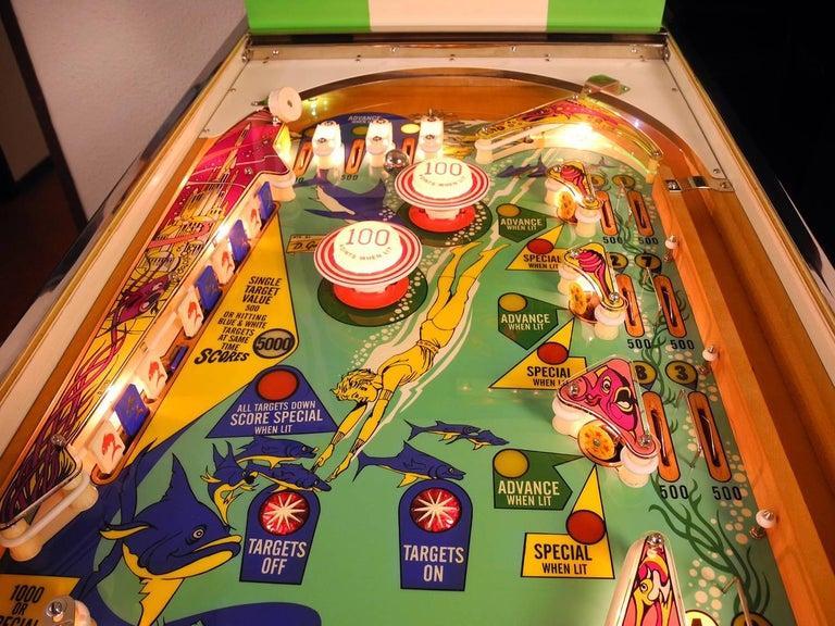 Gottlieb Atlantis Vintage Pinball Machine 1975 High End
