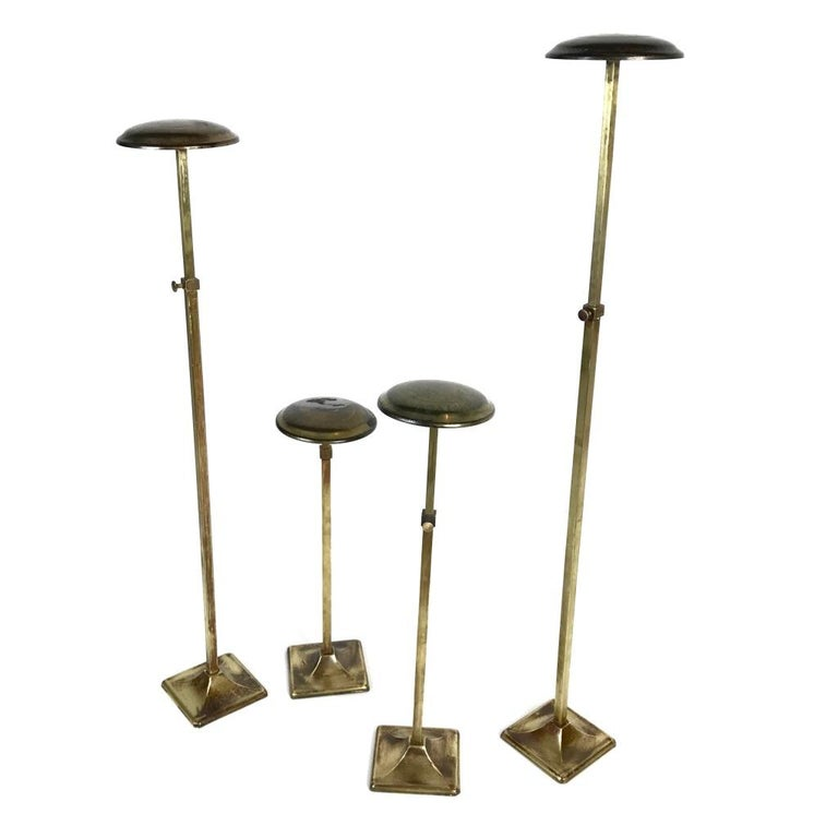 Small Hat Stand: Antique Brass Decorative Clothing Table /Floor Display