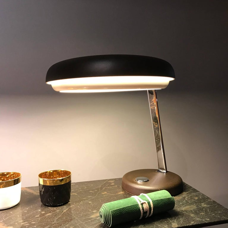 Hillebrand UFO Midcentury Table Desk Lamp, 1960s, Germany 9