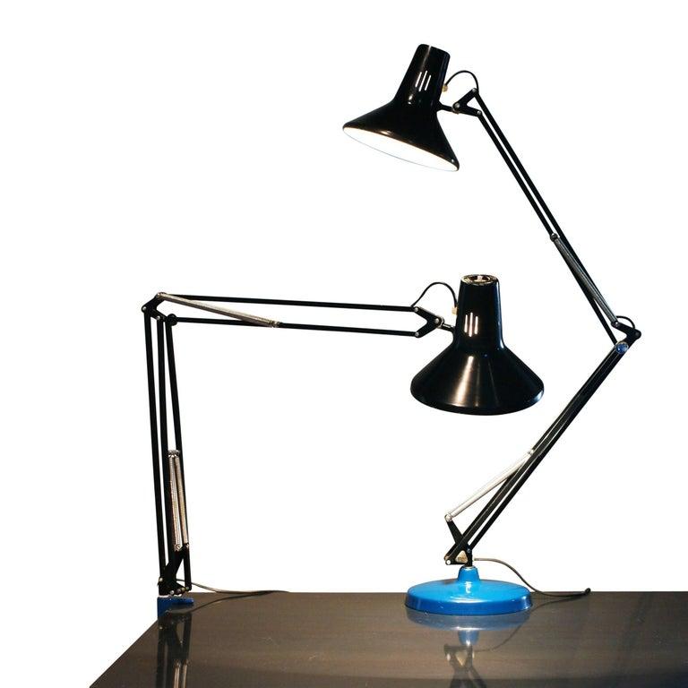 Lovely Mid-Century Luxo L-1P Architect Desk Lamp by Jac Jacobsen, 1970s  SC48