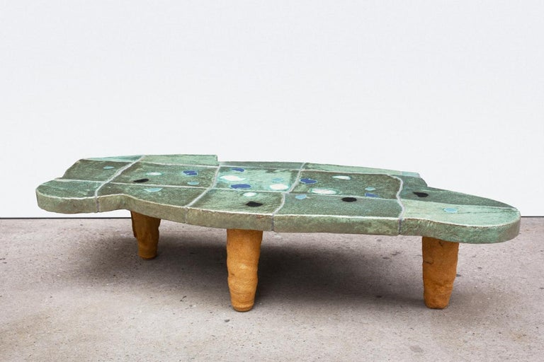 An exceptional ceramic coffee table by Jean Pierre Viot.