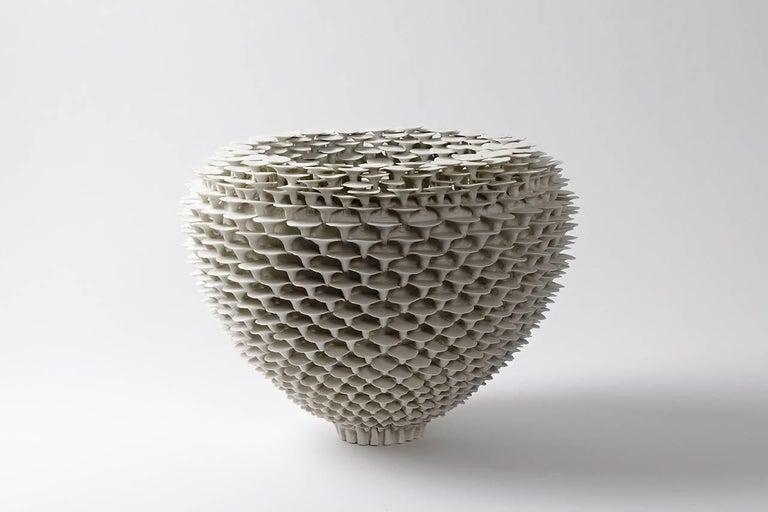 """A big porcelain sculpture entitled """" Solctice"""" . Unique piece. Signed under the base.  2017. Exclusivity for  Aurélien Gendras Gallery"""