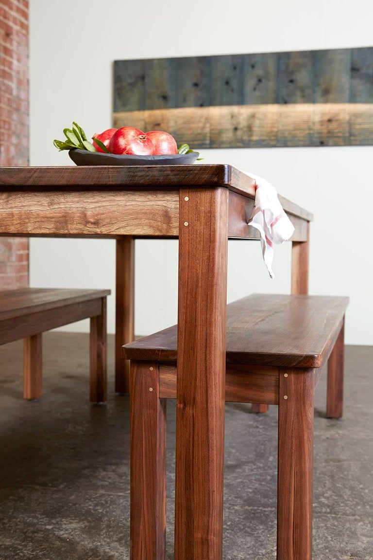 small lore dining table solid wood black walnut modern shaker style for sale at 1stdibs. Black Bedroom Furniture Sets. Home Design Ideas