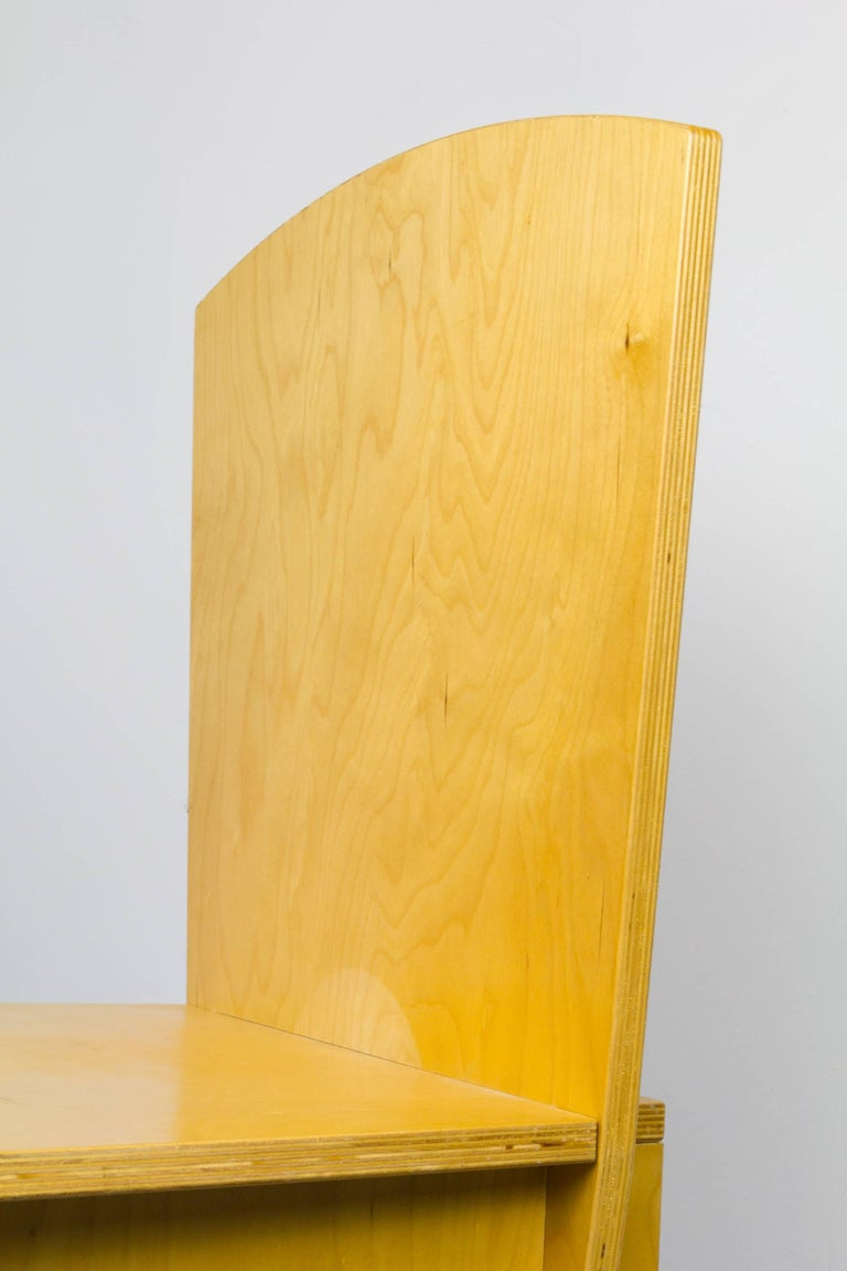 American Interlocked Plywood Chair For Sale