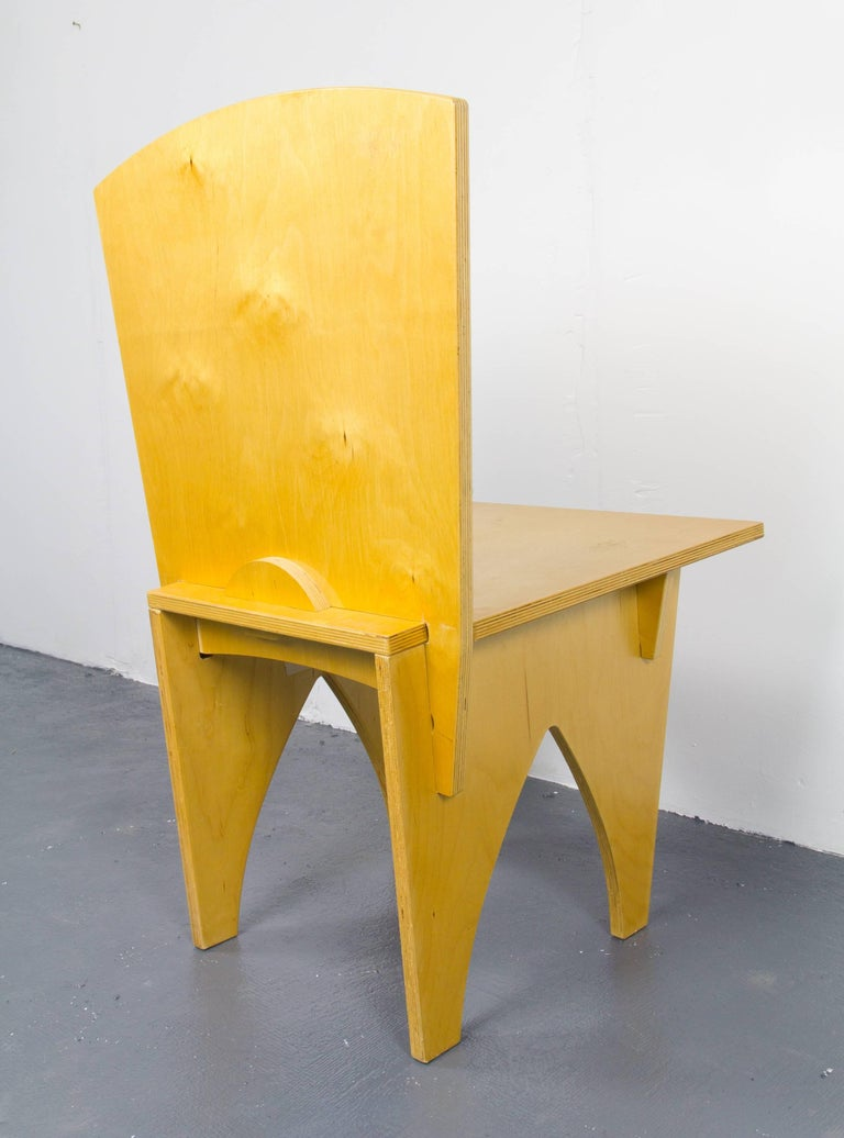 Post-Modern Interlocked Plywood Chair For Sale