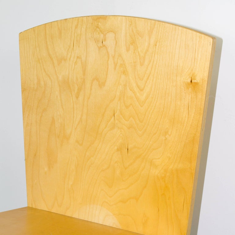 Custom side chair of interlocking plywood cutouts in the manner of Ilonka Karasz.