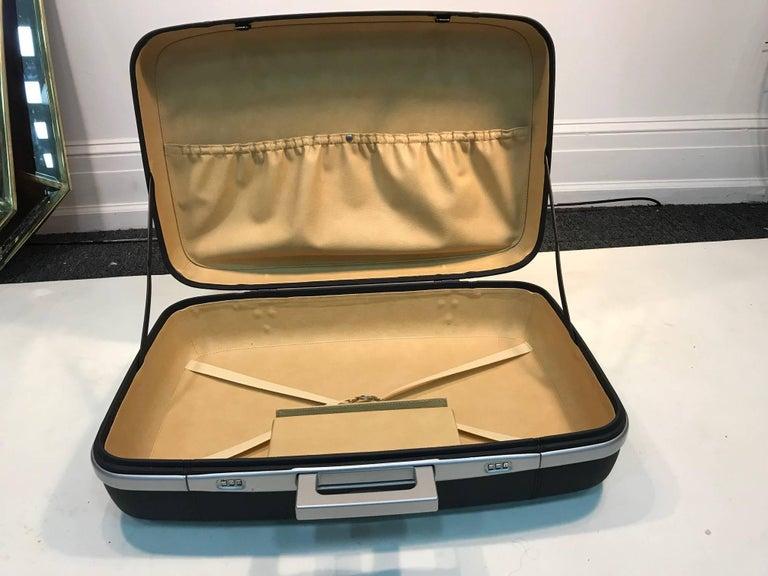 Italian Ferriari Leather  Travel Case Grey Leather For Sale