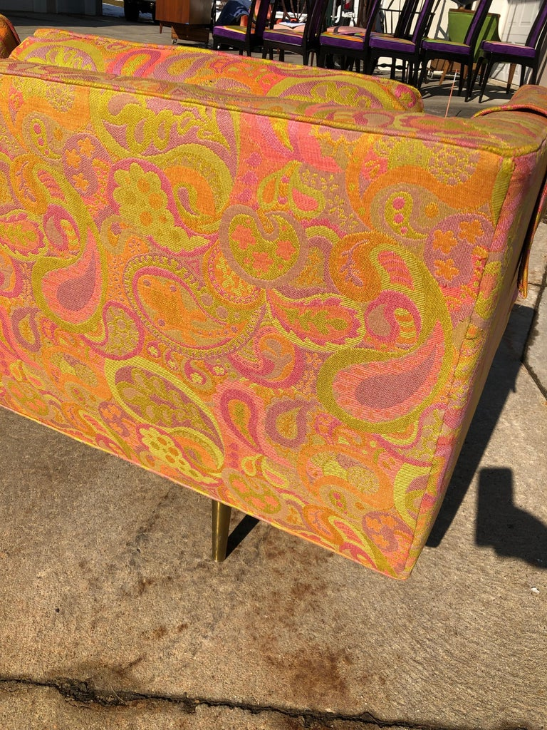 Edward Wormley for Dunbar Sofa 4907 Original Pop Art Pucci Fabric For Sale 3