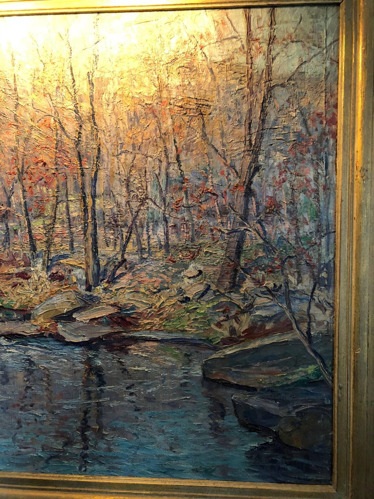 Pennsylvania Post Impressionist Landscape by John Berninger In Excellent Condition For Sale In Allentown, PA