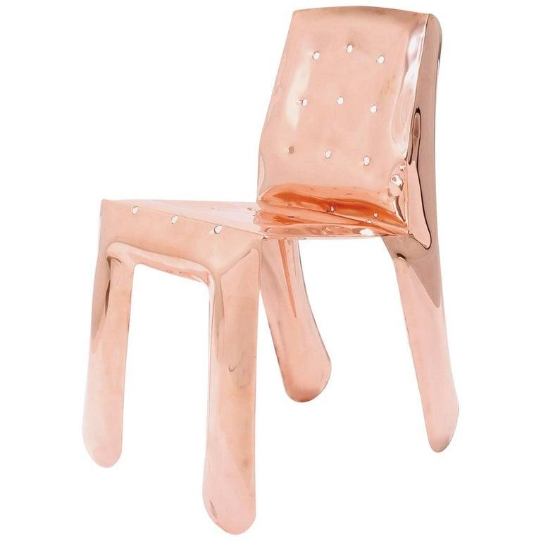 Industrial Chippensteeel 0.5 Chair by Zieta Prozessdesign, Stainless Steel Inox Version For Sale