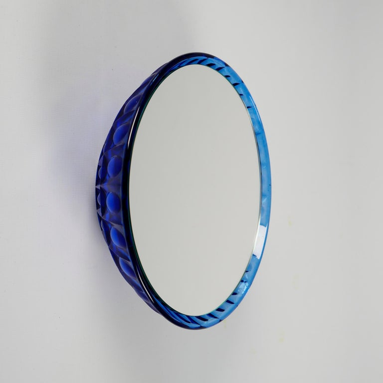 Wall Mirrors 'Saturn' Vintage Style 'Glass Frame' For Sale 4