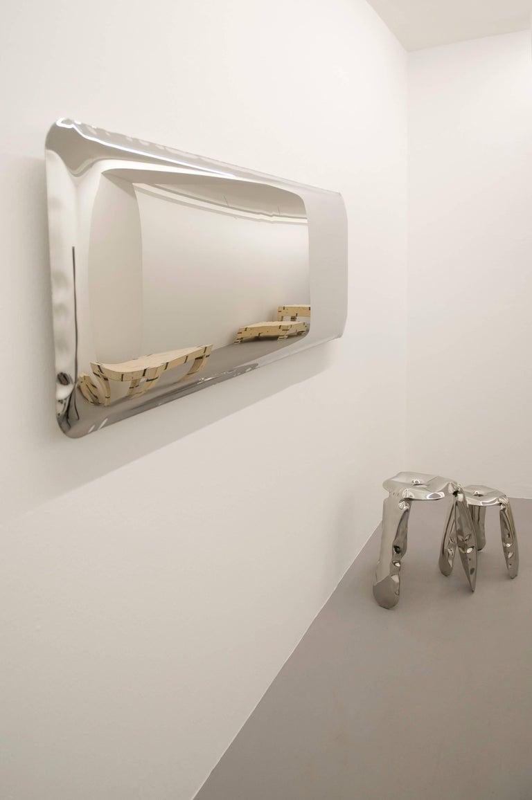 Contemporary 'Tafla C4' Mirror in Stainless Steel by Zieta Prozessdesign For Sale 2