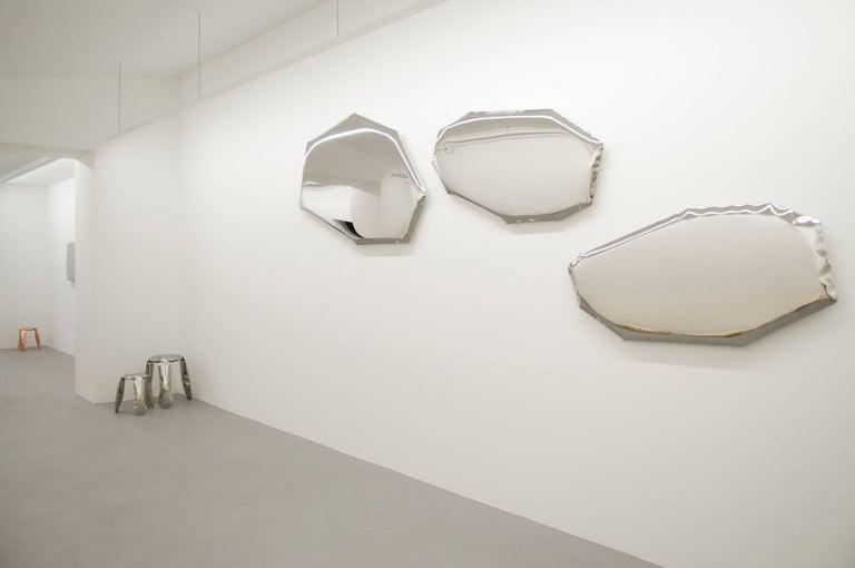 Contemporary 'Tafla C4' Mirror in Stainless Steel by Zieta Prozessdesign For Sale 3
