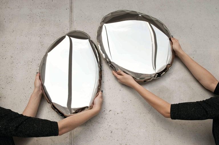 Contemporary Mirror 'Tafla O4' in Stainless Steel by Zieta Prozessdesign 5