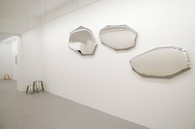 Minimalist Contemporary Mirror 'Tafla O4' in Stainless Steel by Zieta Prozessdesign For Sale
