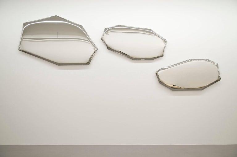 Contemporary Mirror 'Tafla O4' in Stainless Steel by Zieta Prozessdesign 2