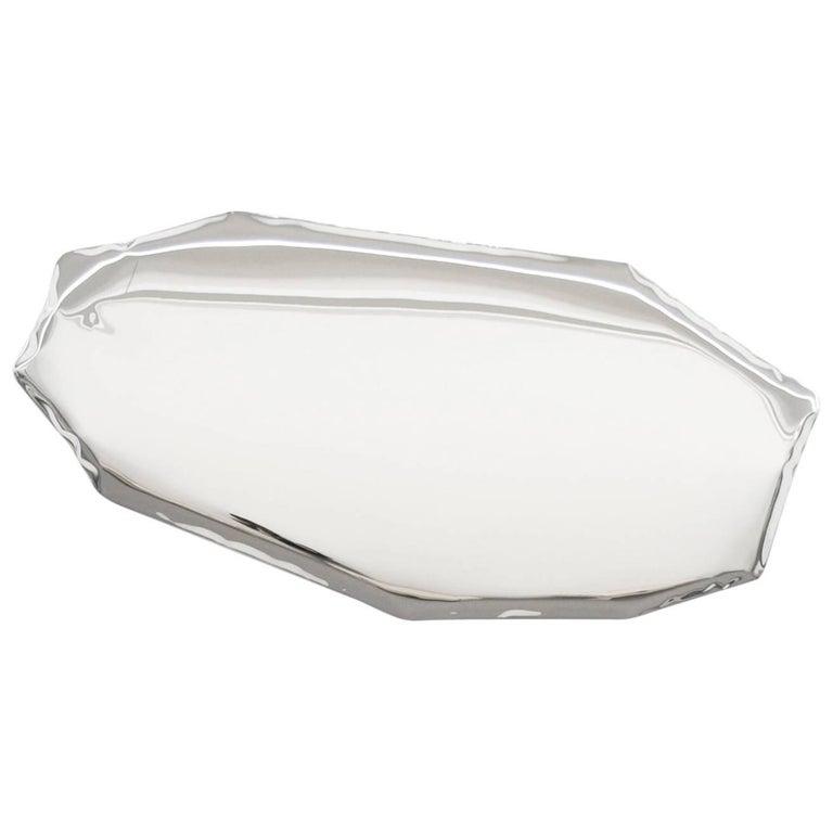 Contemporary Mirror 'Tafla O4' in Stainless Steel by Zieta Prozessdesign 10