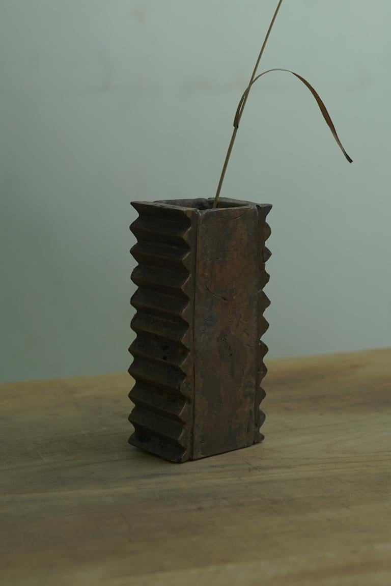 Brutalist Vase Made of Copper, Unique In New Condition For Sale In Paris, FR