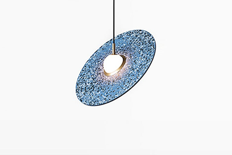 Contemporary 'Planet' Terrazzo Pendant Lamp by Bentu Design 'White' For Sale