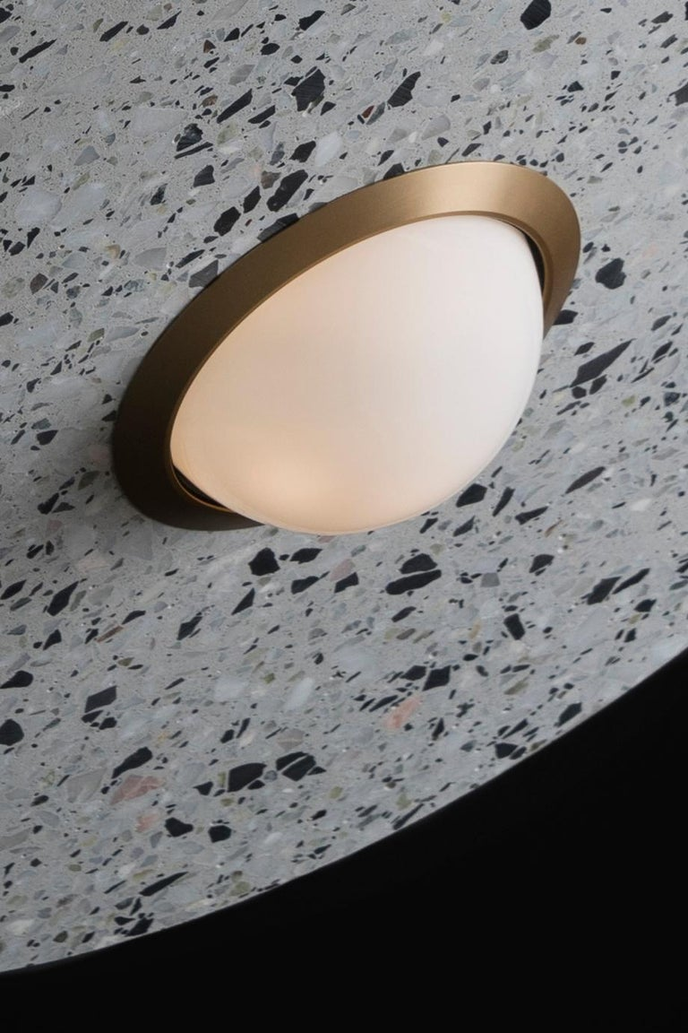 Concrete 'Planet' Terrazzo Pendant Lamp by Bentu Design 'Blue' For Sale