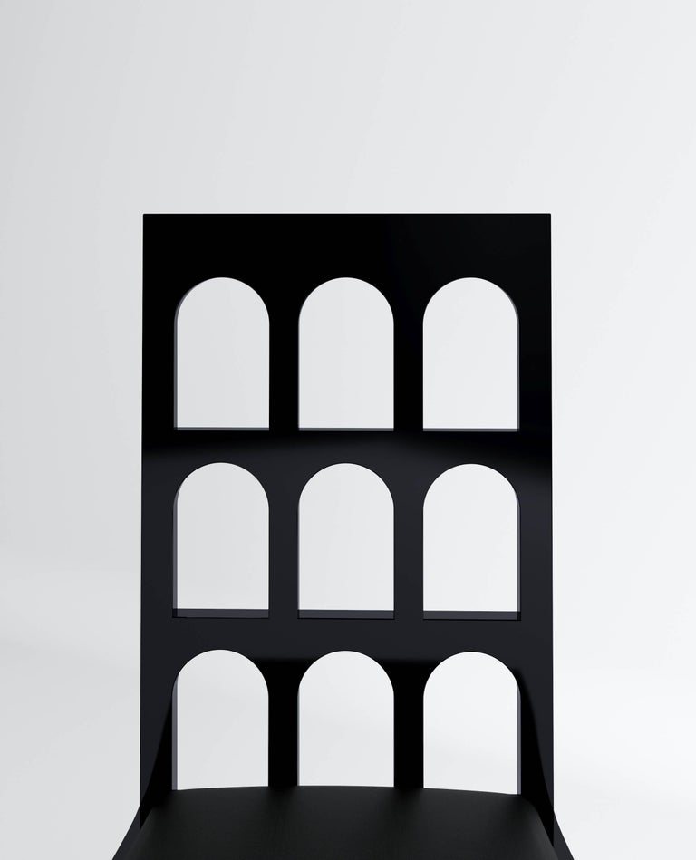 Italy Black Chair 'Lacquered Wood' by Dmitry Samygin 5